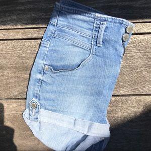 Topshop High Waisted Denim Shorts